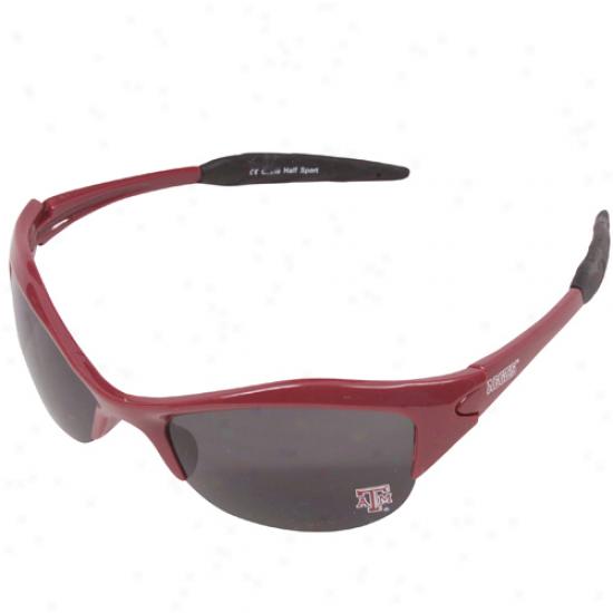 Texas A&m Aggies Maroon Half Frame Sport Sunglasses