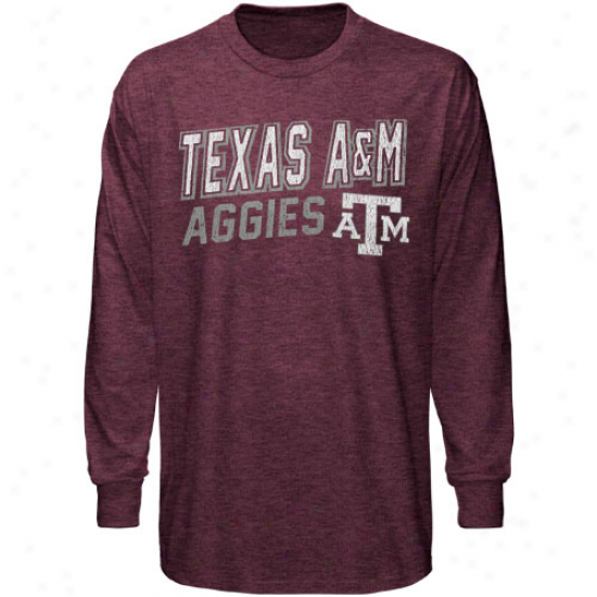 Texas A&m Aggies Youth Hedgehog Long Sl3eve T-shirt - Maroon