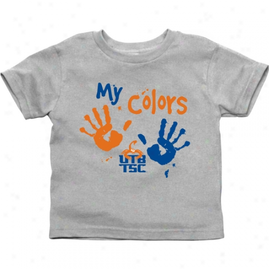 Texas Brownsville Scorpions Infant My Colors T-shirt - Ash