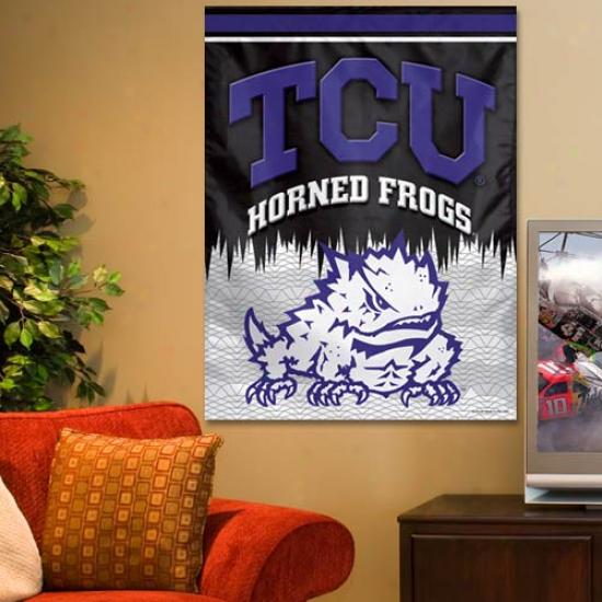 Texas Christian Horned Frogs (tcu) 27'' X 37'' Vertucal Banner Flag