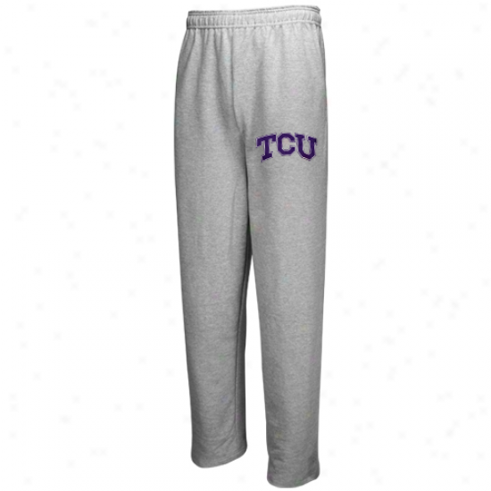 Texas Inhabitant of Christendom Horned Frogs (tcu) Ash Classic Fl3ece Pants