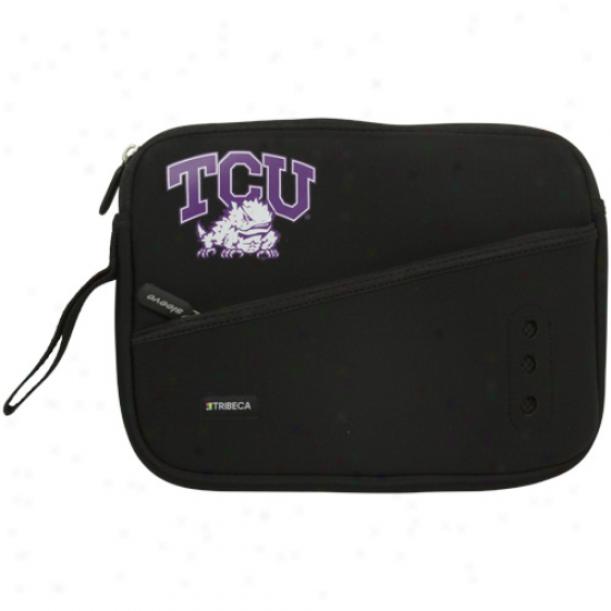 Texas Christian Horned Frogs (tcu) Black 10'' Netbook Breathe Sleeve