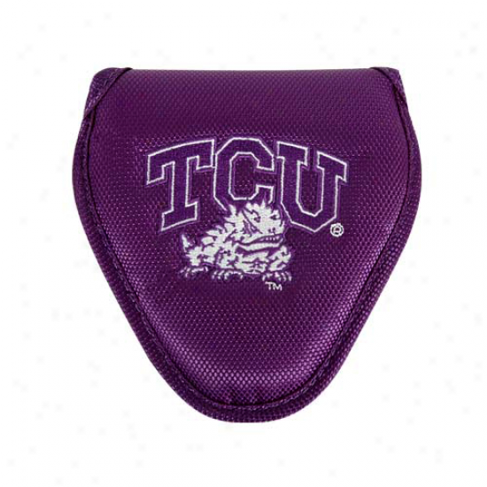 Texas Christian Horned Frogs (tcu) Navy Purple Mallet Putter Shelter