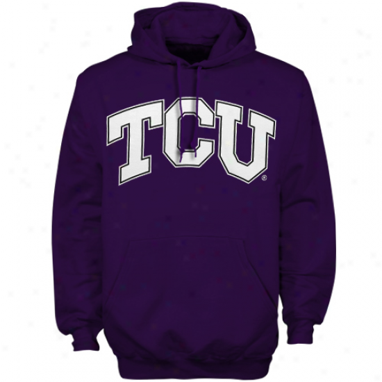 Texas Christian Horned Frogs (tcu) Purple Bold Arch Pullover Hoodie Sweatshirt