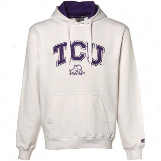 Texas Christian Hirned Frots (tcu) White Automatic Hoosy Sweatshirt