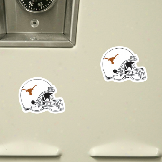 Texas Longhorns 6-pack Football Helmet Magnet Sheet