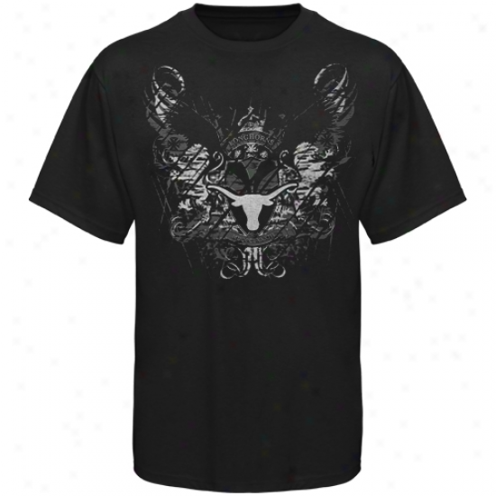 Texas Longhorns Black Static T-shirt