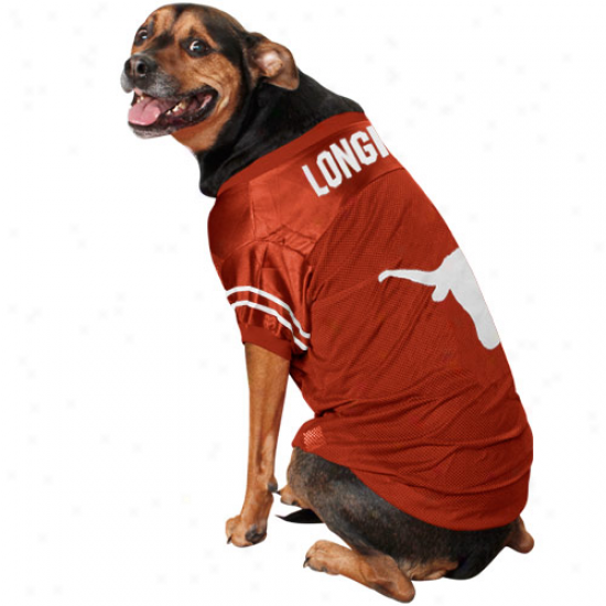 Texas Longhorns Burnt Orange Mesh Dog Jersey