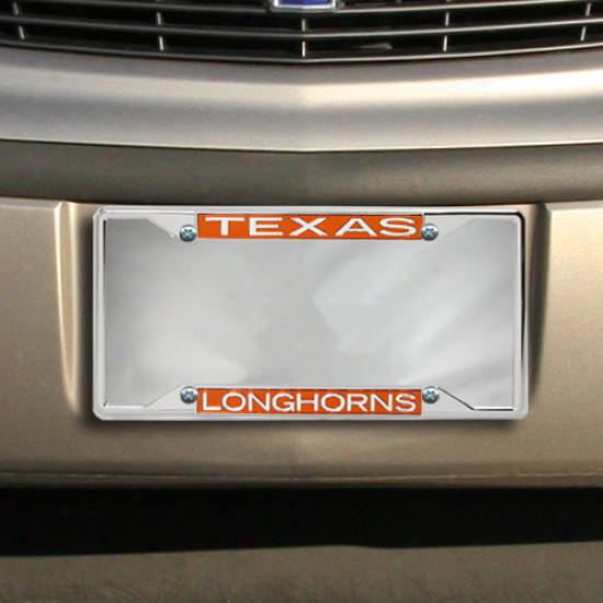 Texas Longhorns Chrome License Plate Frame-