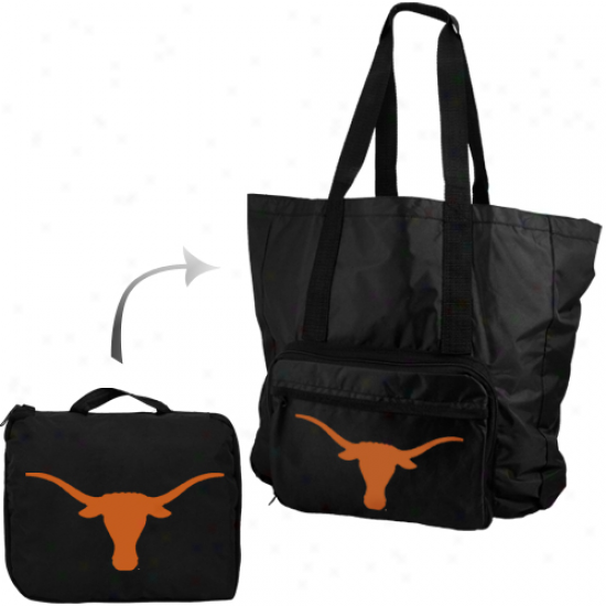 Texas Longhorns Fold-aaw Carry Bag Travel Pack - Black