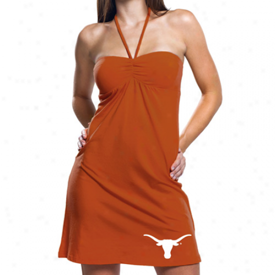 Texas Longhorns Ladies Burnt Orange Sweetheart Halter Dress