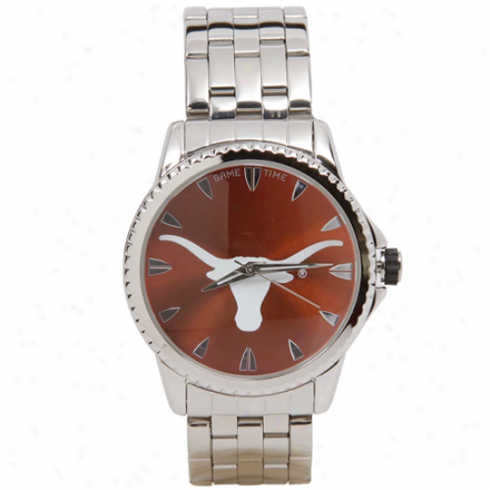 Texas Longhorns Manager Stainless Steel Watch