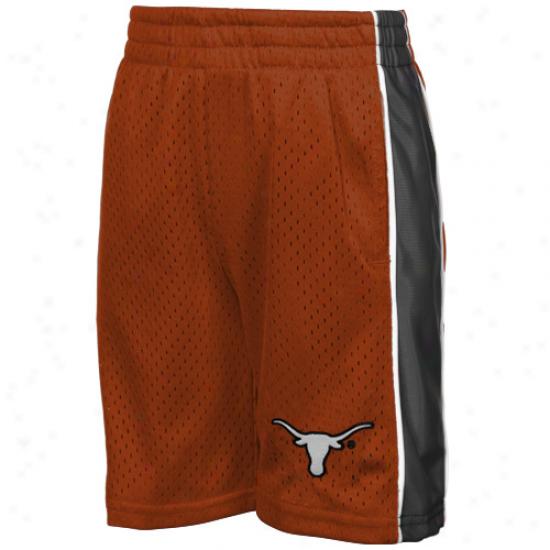 Texas Longhorns Preschool Burnt Orange Vector Mesh Shortss