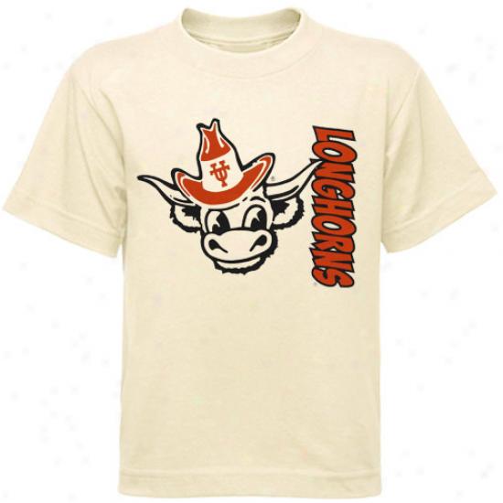 Texas Longhorns Preschool Cream Bronco Slub T-shirt