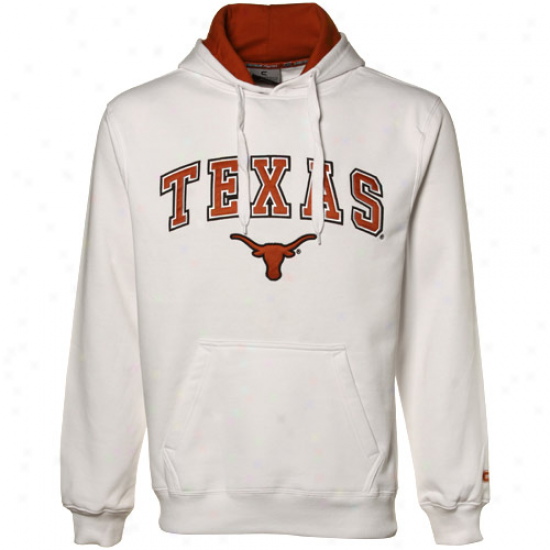 Texas Longhorns White Automatic Pullover Hoody Sweatshirt