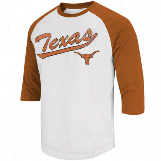 Texas Longnorns Youth Franchise 3/4 Raglan Sleeve T-shirt - White/burnt Orange