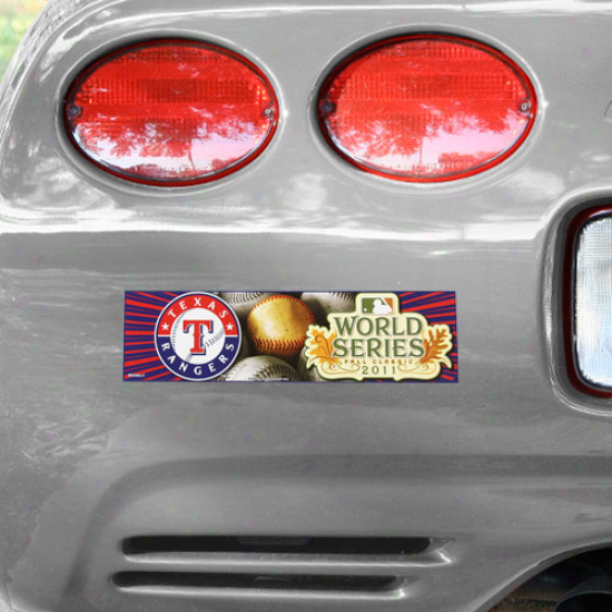 Texas Rangers 2011 World Series Bound Bumper Sticker