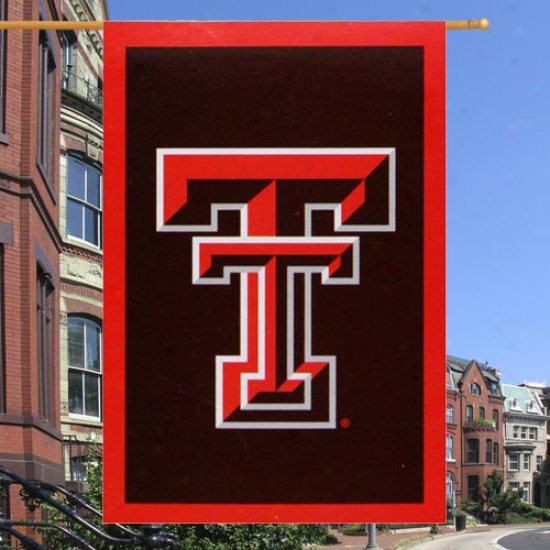 Texas Tech Red Raiders 28'' X 44'' Black Applique Vertica lBanner Flag