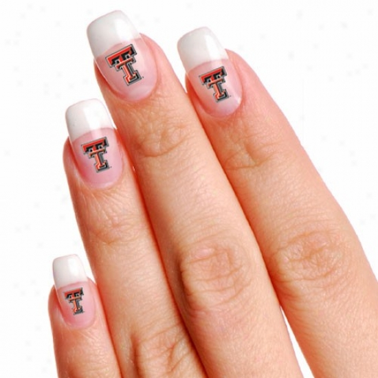 Texas Tech Red Raiders 4-pack Temporary Nail Tattoos