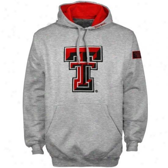 Texas Tech Red Raiders Ash Automatic Hoody Sweatshirt