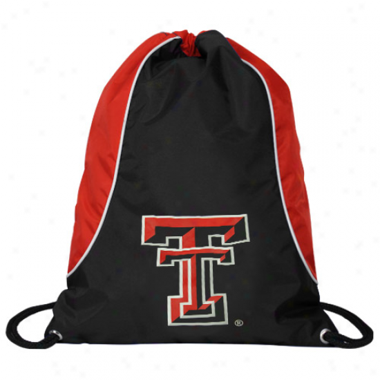 Texas Tech Red Raders Black-scarlet Axis Drawstring Backpack