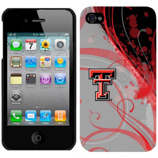 Texas Tech Red Raiders Gray Iphone 4 Silicone Case