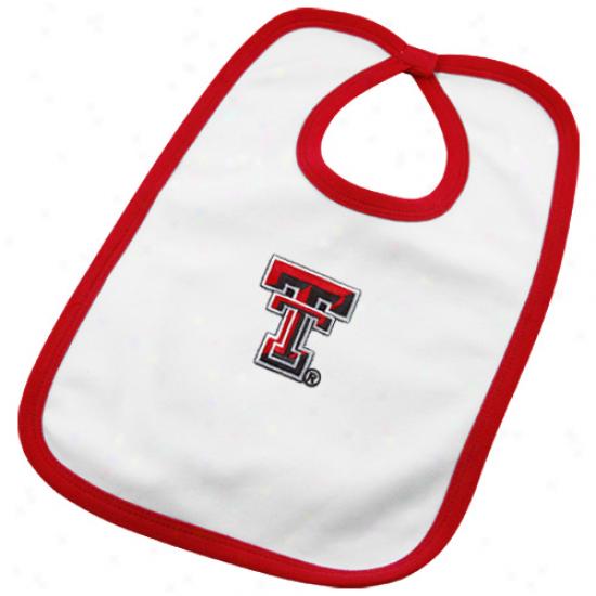 Texas Tech Red Raiders Infabt White Team Logo Cotton Bib