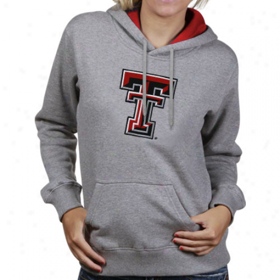 Texas Tech Red Raiders Ladies Ash Game Day Hoody Sweatshirt