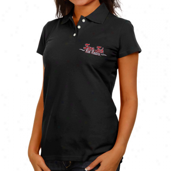 Texas Tech Red Raiders Ladies Black Ivy League Polo