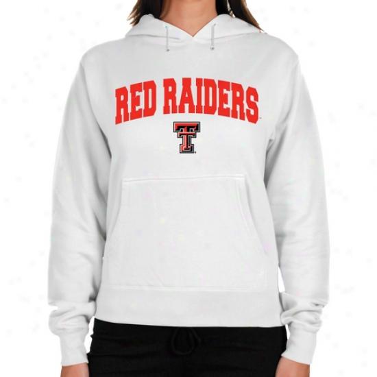 Texas Tech Red Raiders Ladies White Logo Arch Lightweight Hoody