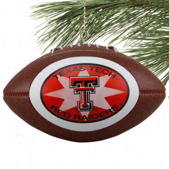 Texas Tech Red Raiders Mini Replica Football Ornament