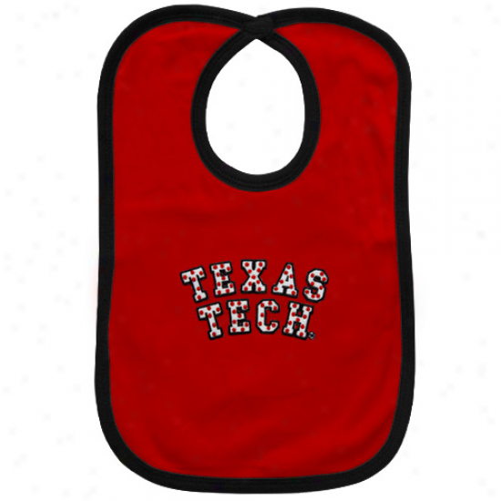 Texas Tech Red Raiders Red Bib With Snap Closure