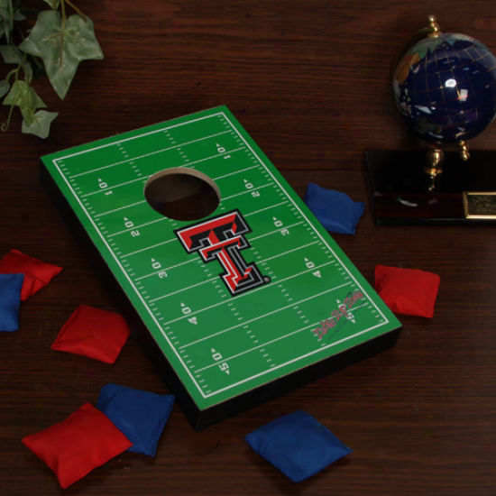 Tezas Tech Red Raiders Tabletop Fooyball Bean Bag Toss Game
