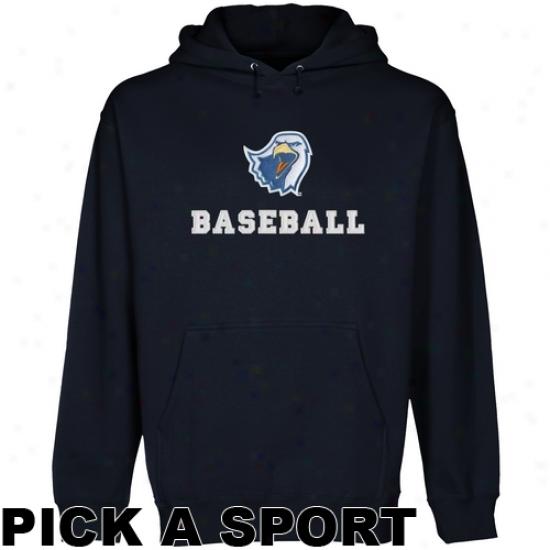 Texas Tyler Patriots Custom Sport Logo Applique Pullover Hooodie - Navy Dismal