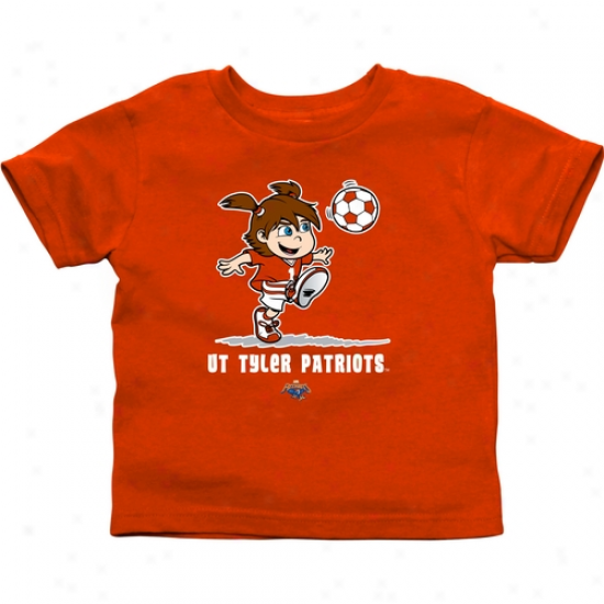 Texas Tyler Patriots Infant Girls Soccer T-shirt - Orange