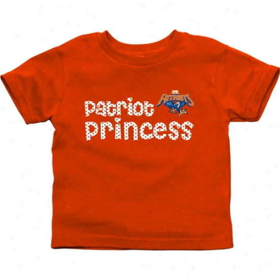 Texas Tyler Patriots Infant Princess T-shirt - Orange