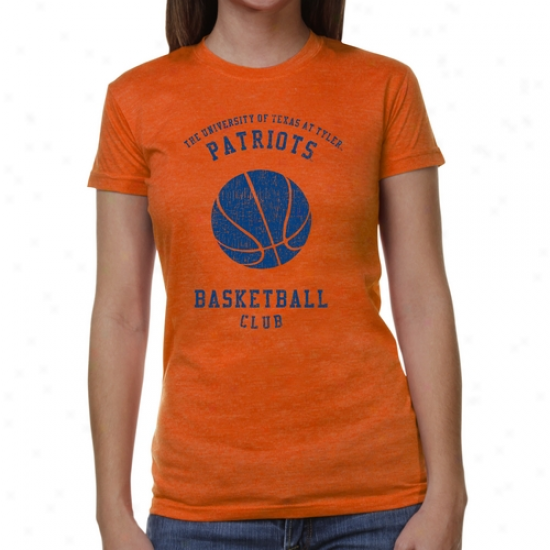 Texas Tyler Patriots Ladies Club Junior's Tri-blend T-shirt - Orange
