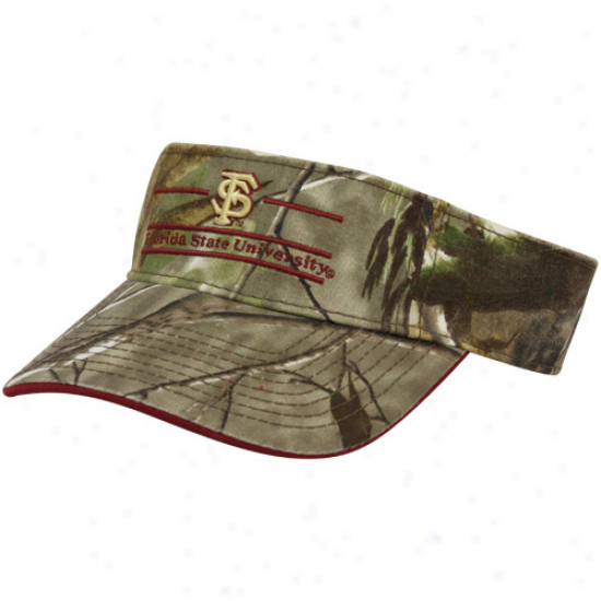 The Game Florida State Seminoles (fsu) Real Tree Camo 3-bar Adjustable Visor