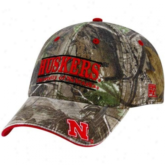 The Game Nebraska Cornhuskers Camo 3-bar Stretch Fit Hat