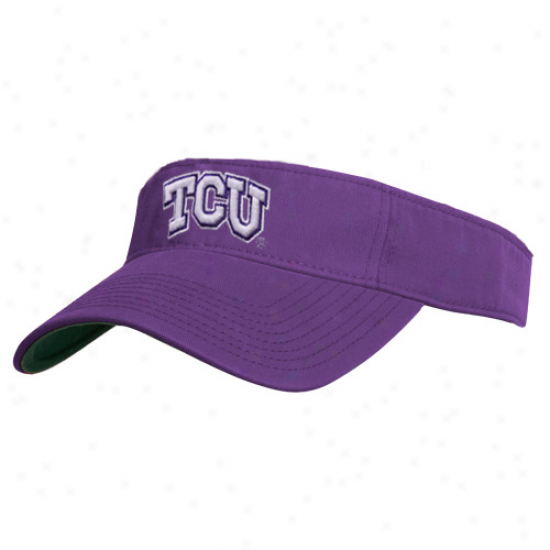 The Game Texas Cristian Horned Frogs (tcu) Purple Relaxed 3d Logo Adjustable Visor