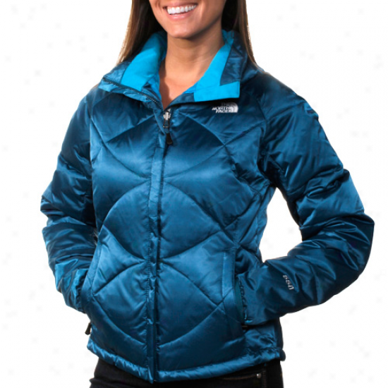 The North Face U.s. Freeskiing Womens Aconcagua Full Zip Down Jacket - Octopus Livid