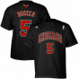 Adidas Carlos Boozer Chicago Bulls #5 Net Number T-shirt - Blacj