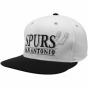 Adidas San Antonio Spurs White-black Sixtn Man Snapback Adjustable Hat