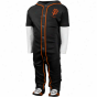 Adidas San Francisco Giants Infant Piped Jersey Footed Pajamas - Black