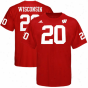 Adidas Wisconsin Badgers #20 Football Player T-shirt - Cardinal