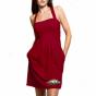 Arkansas Razorbacks Ladies Cardinal Pleated Dress