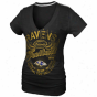 Baltimore Ravens Ladies Gunner Glitz T-shirt - Black