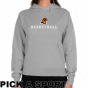 Bowling Green State Falcons Ladies Ash Cystom Sport Logo Appli8qe Lightweight Hoody -
