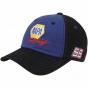 Checkeded Iris Martin Truex Jr. Napa Racing Fan Adjustable Hat - Blue-black