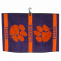 Clemson Tigers Purple Jacquard Woven Golf Towel
